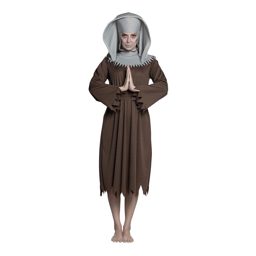 Nunna Spöke Maskeraddräkt - Medium