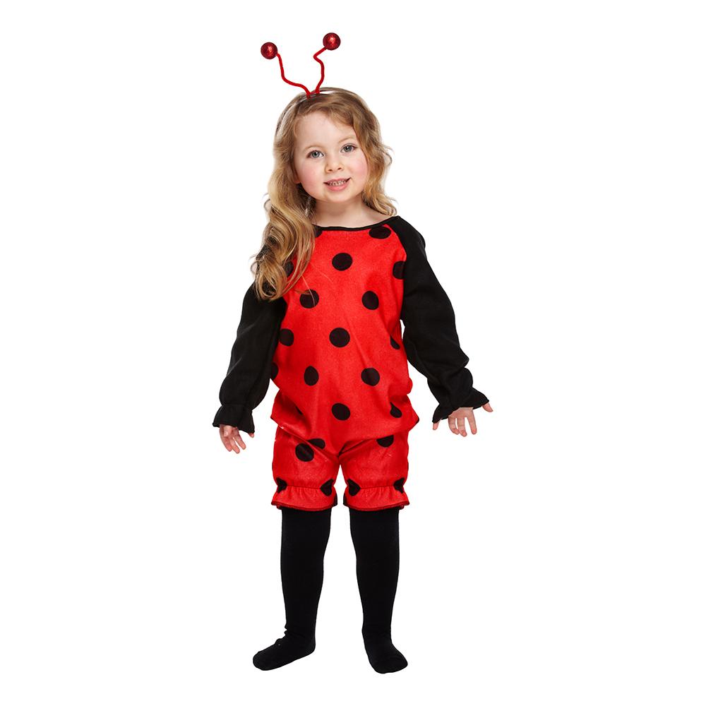 Nyckelpiga Röd/Svart Barn Maskeraddräkt - One size