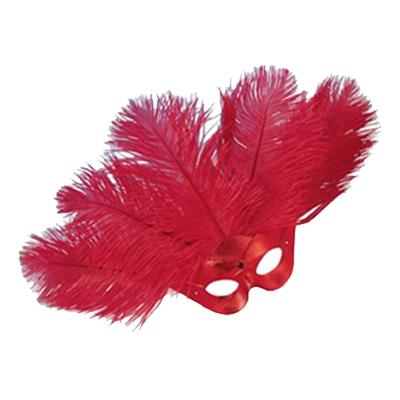 Ögonmask Lido med Plym - Röd