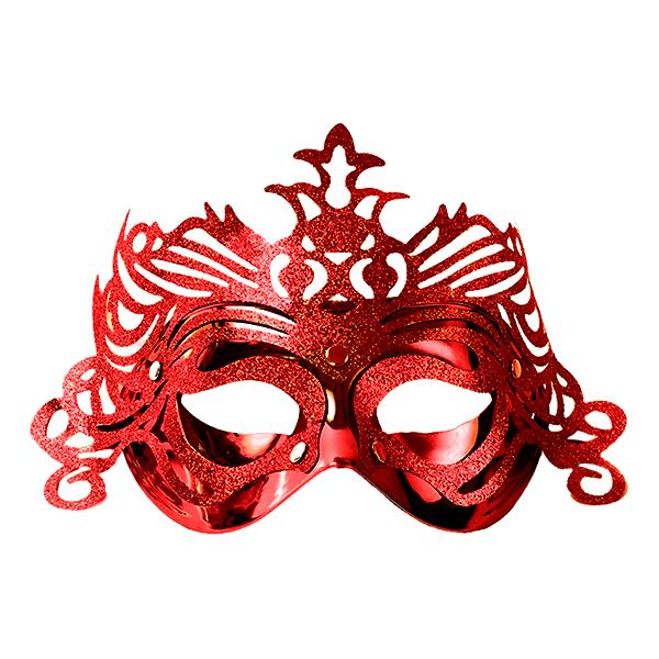 Ögonmask med Ornament - Röd