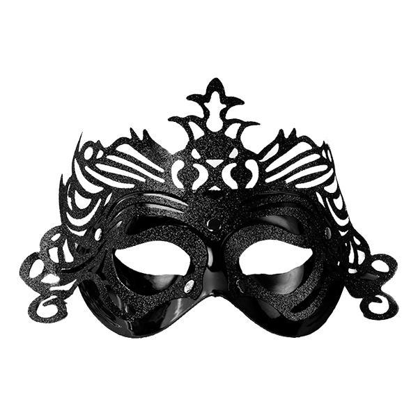 Ögonmask med Ornament - Svart