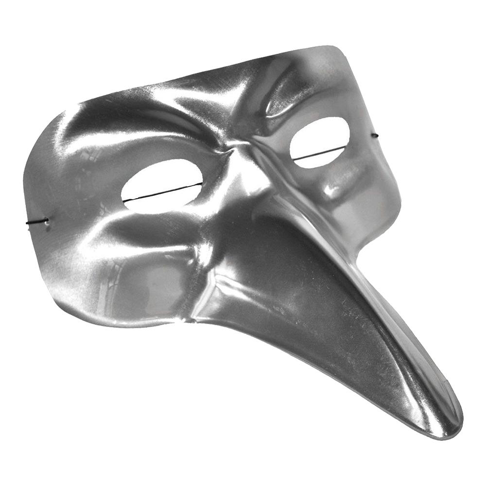 Ögonmask Silver med Lång Näsa