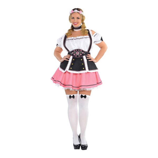 Oktoberfest Dam Plus-size Maskeraddräkt - Plus size