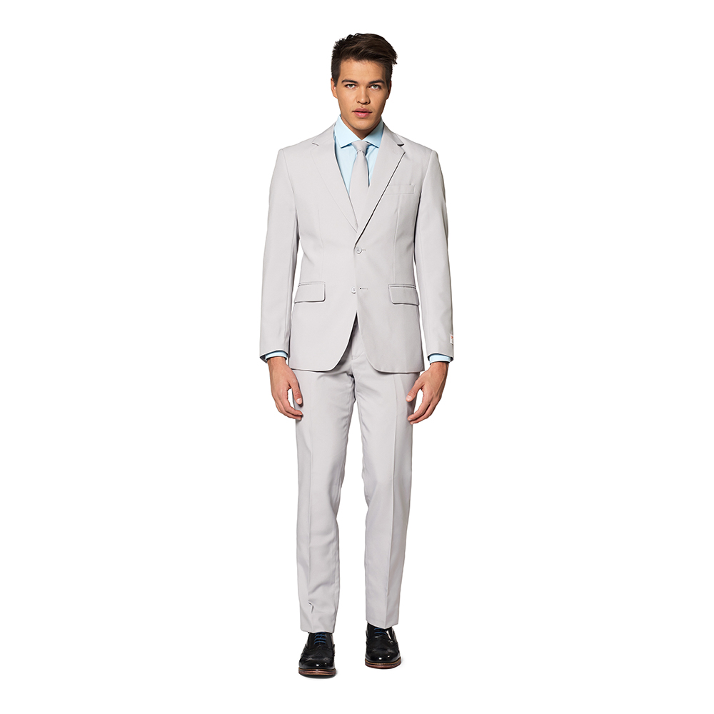 OppoSuits Blazing Groovy Grey Kostym - 62