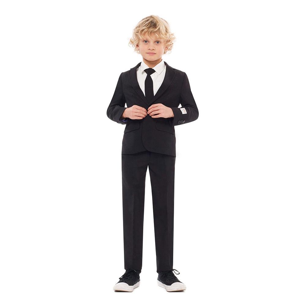 OppoSuits Boys Svart Kostym - 92/98