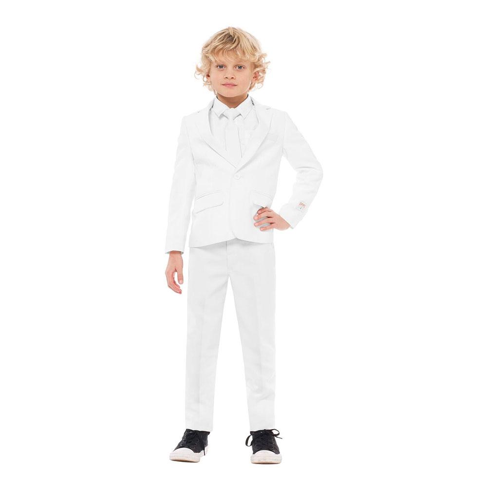 OppoSuits Boys Vit Kostym - 98/104