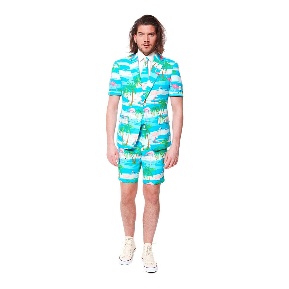 OppoSuits Flaminguy Shorts Kostym - 48