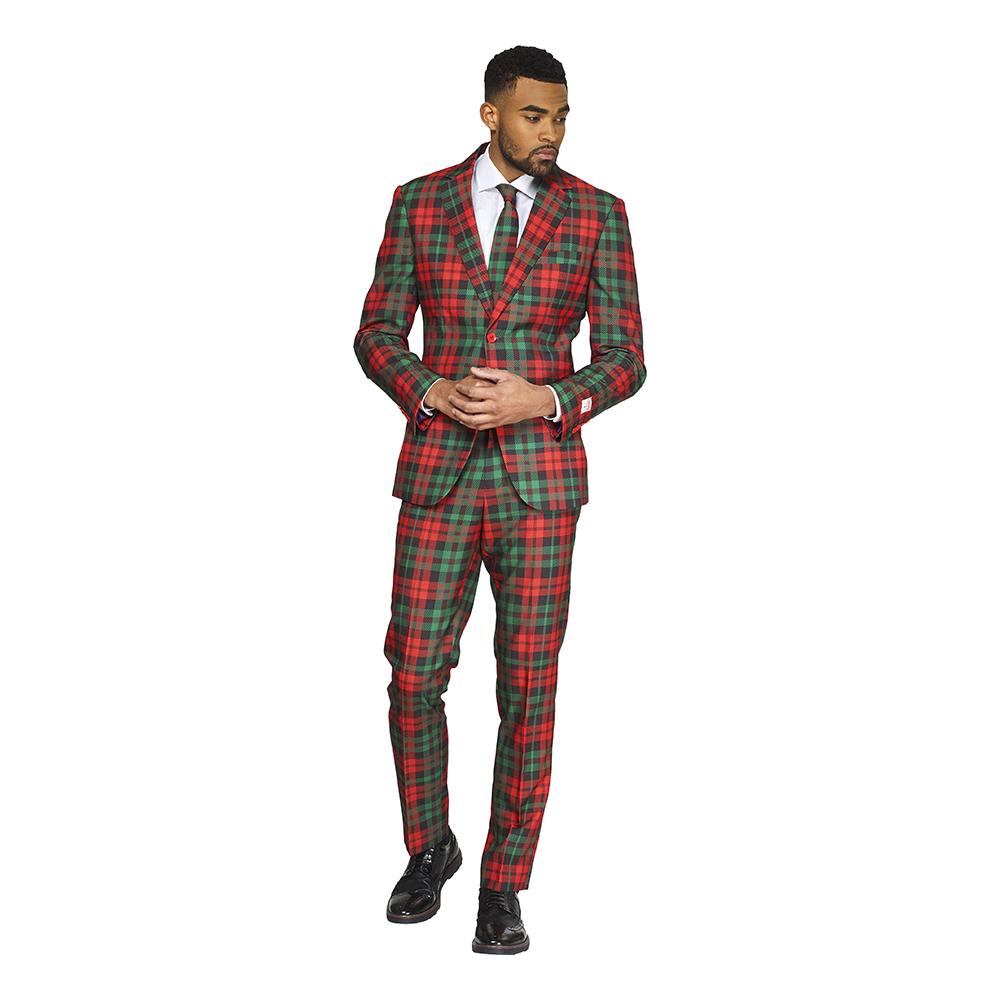 OppoSuits Trendy Tartan Kostym - 46