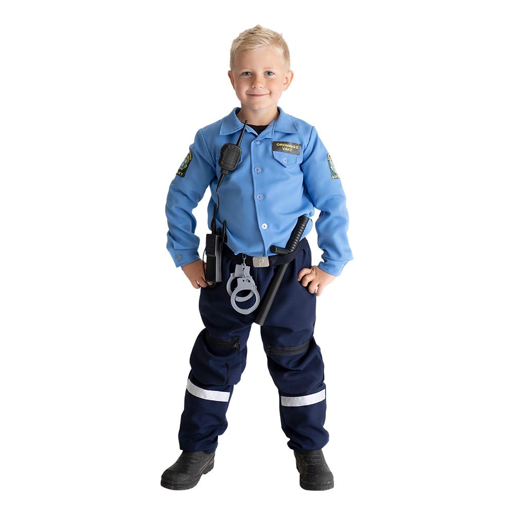 Ordningsvakt Barn Maskeraddräkt - Small