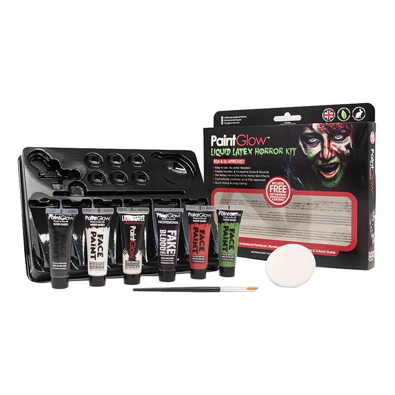 PaintGlow Flytande Latex Halloween Kit