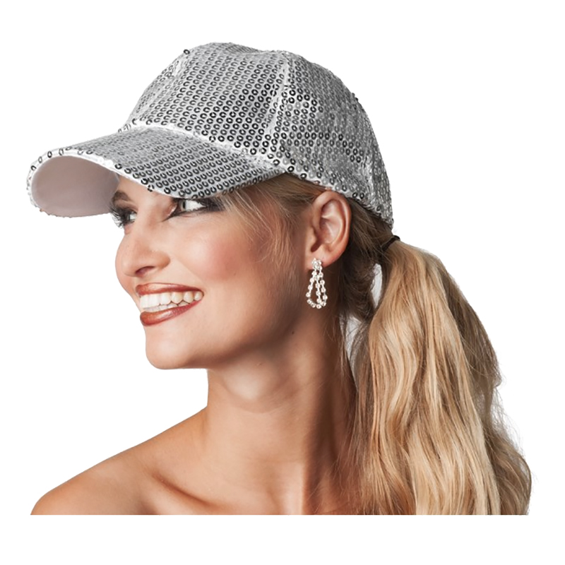 Paljettkeps Silver - One size