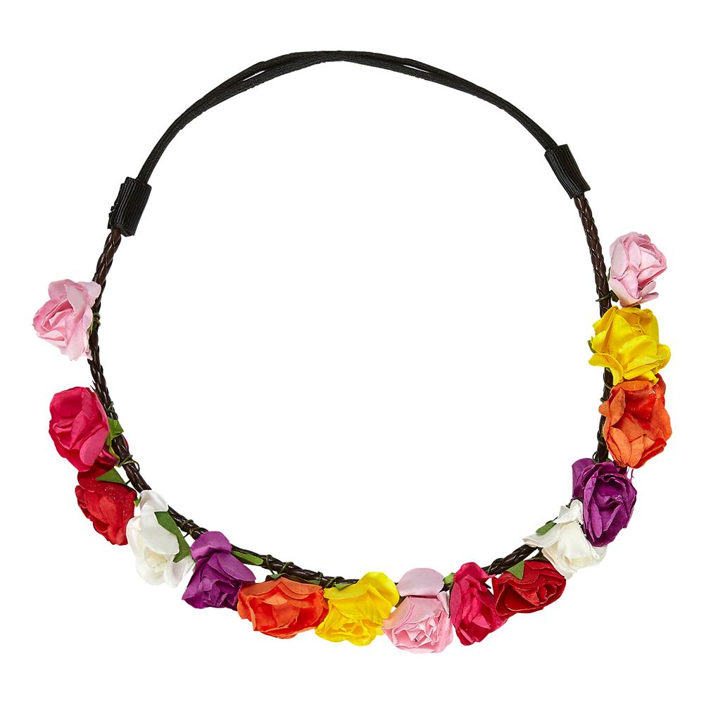 Hårband med Blommor Peace - One size