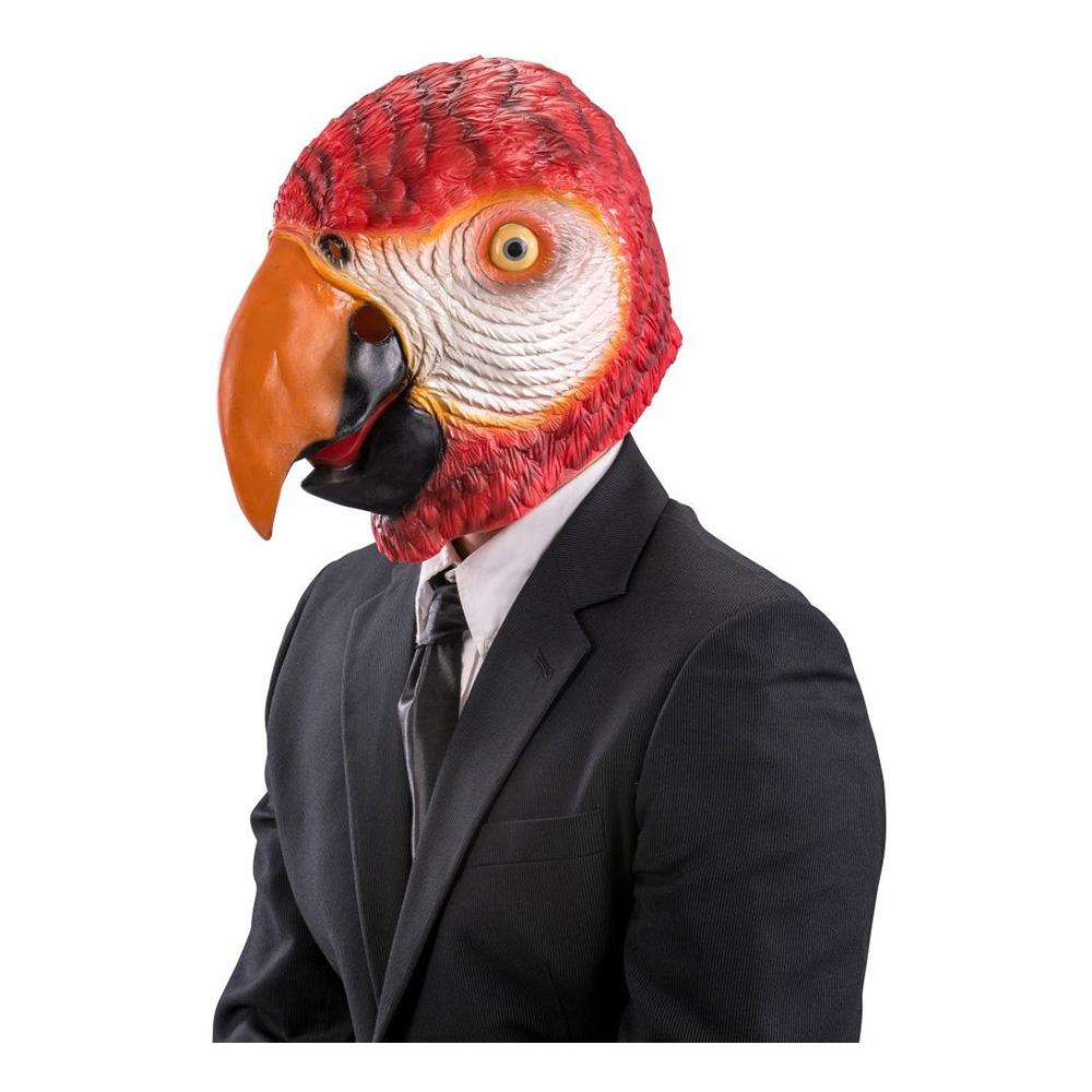 Papegoja Latexmask - One size