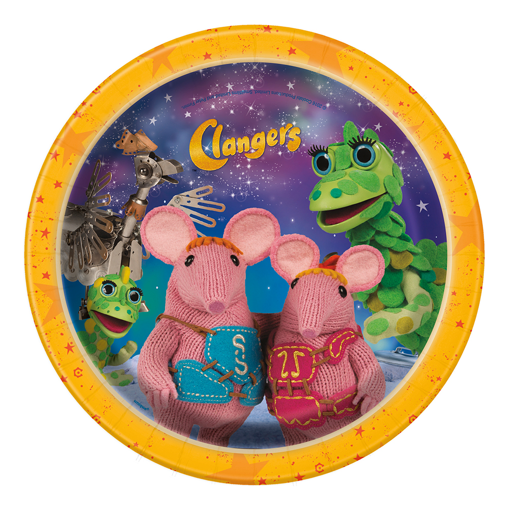 Pappersassietter Clangers - 8-pack