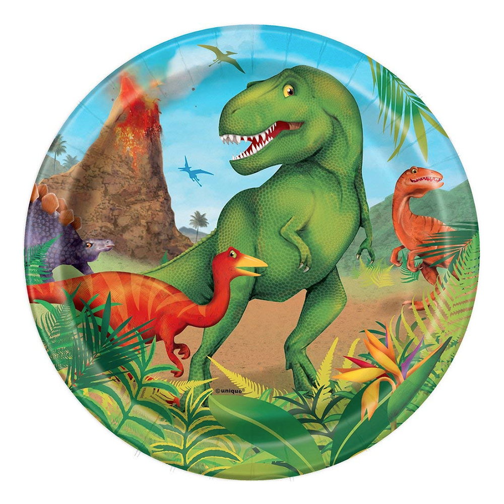 Pappersassietter Dinosaurie - 8-pack