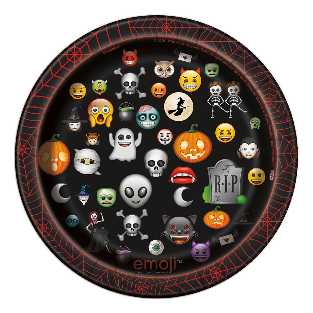 Pappersassietter Emoji Halloween - 8-pack