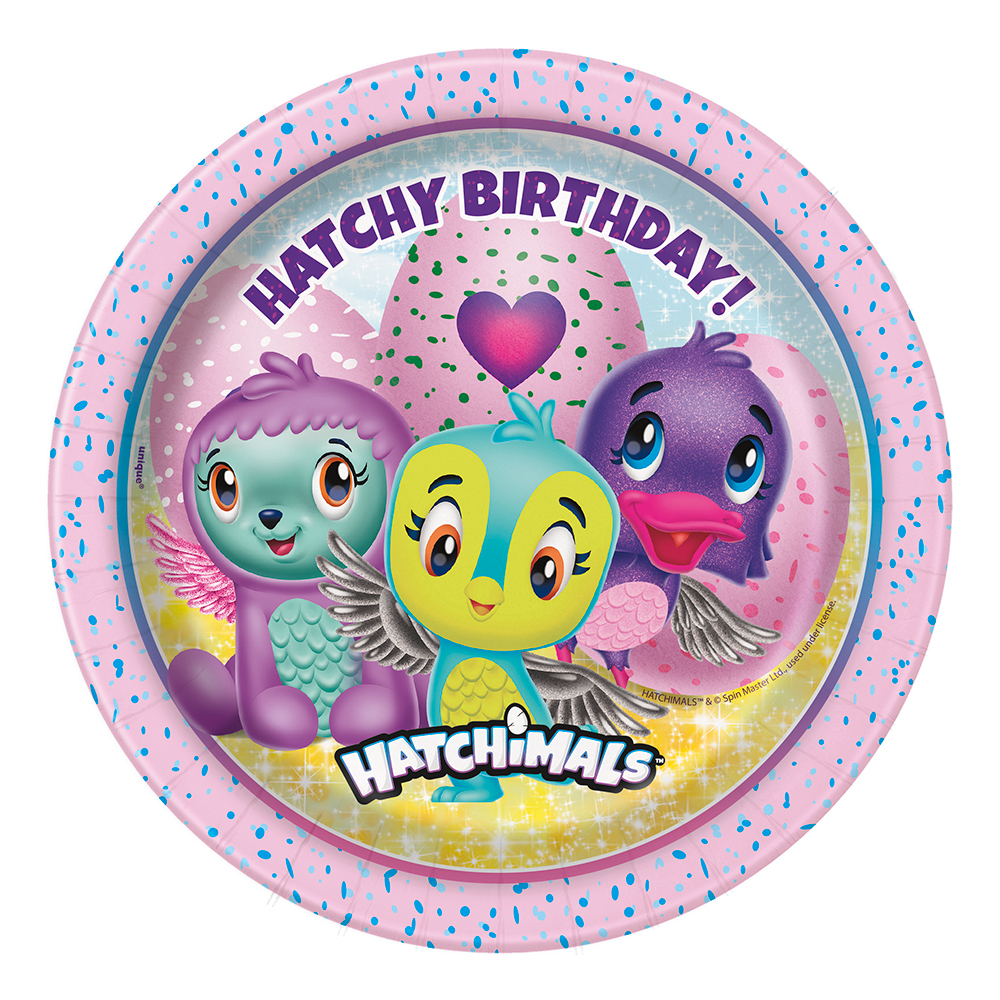 Pappersassietter Hatchimals - 8-pack