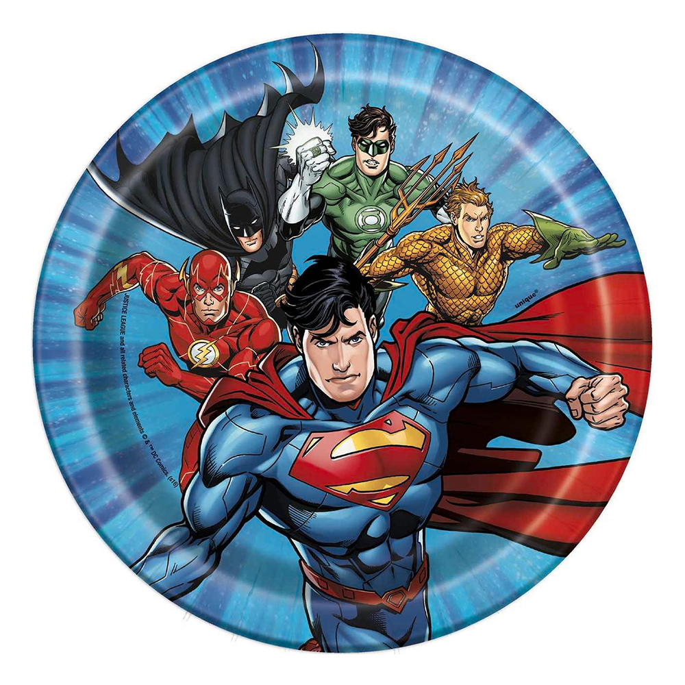 Pappersassietter Justice League - 8-pack