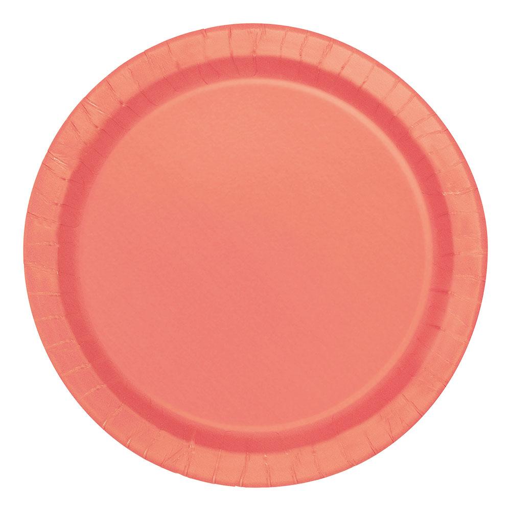 Pappersassietter Korall - 20-pack