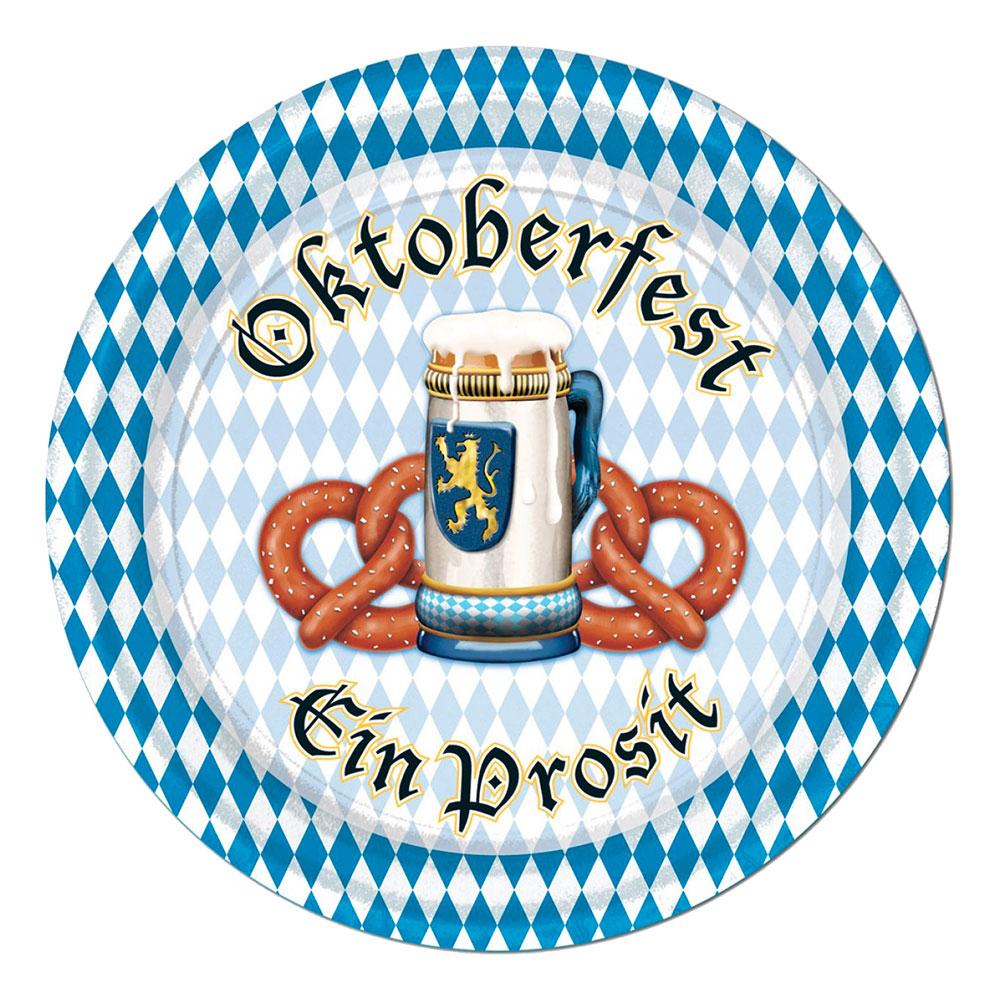 Pappersassietter Oktoberfest Ein Prosit - 8-pack