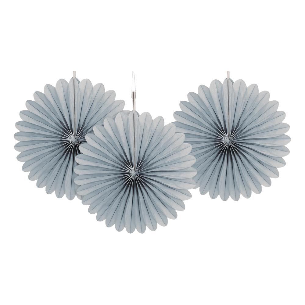Pappersfjädrar Silver Mini Hängande Dekoration - 3-pack