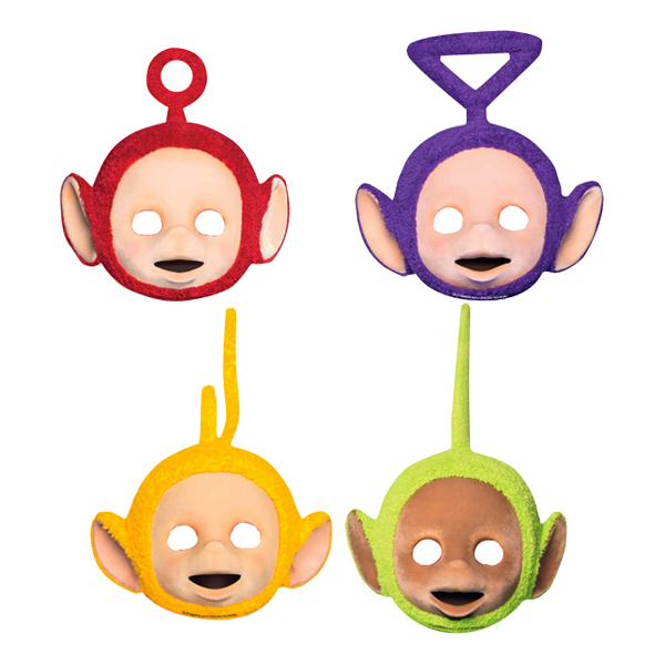 Pappmasker Teletubbies - 4-pack
