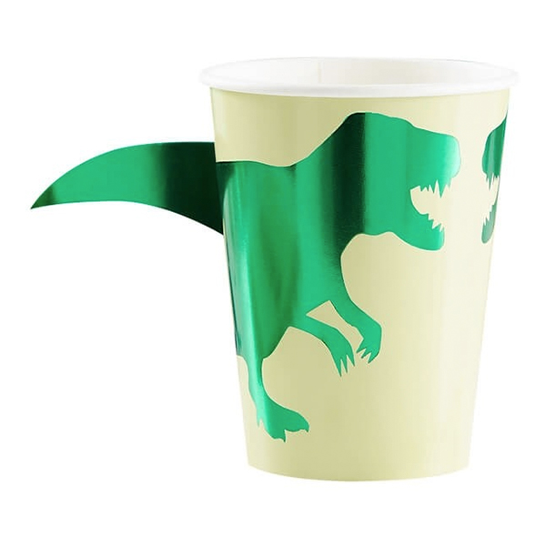 Pappersmuggar Dinosaurie Metallic - 8-pack