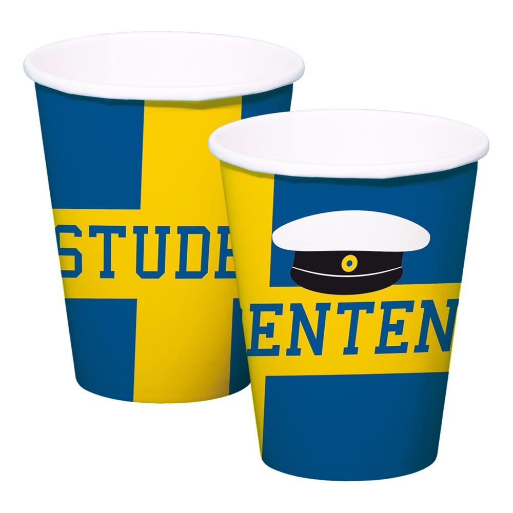 Pappersmuggar Studenten Blå/Gul - 8-pack