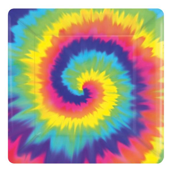 Papperstallrikar 60-tals Hippie - 8-pack