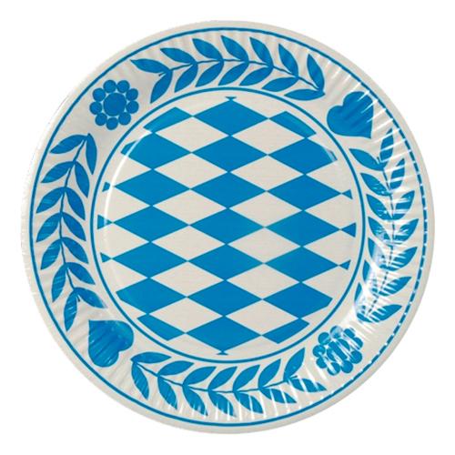 Papperstallrikar Bayersk Blå - 100-pack