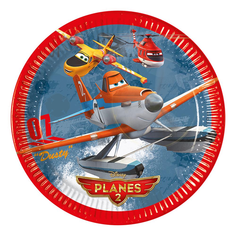 Papperstallrikar Disney Planes 2 - 8-pack