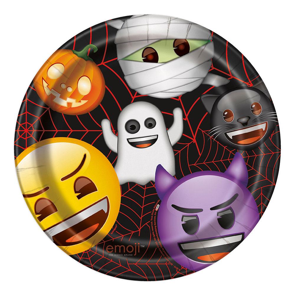 Papperstallrikar Emoji Halloween - 8-pack