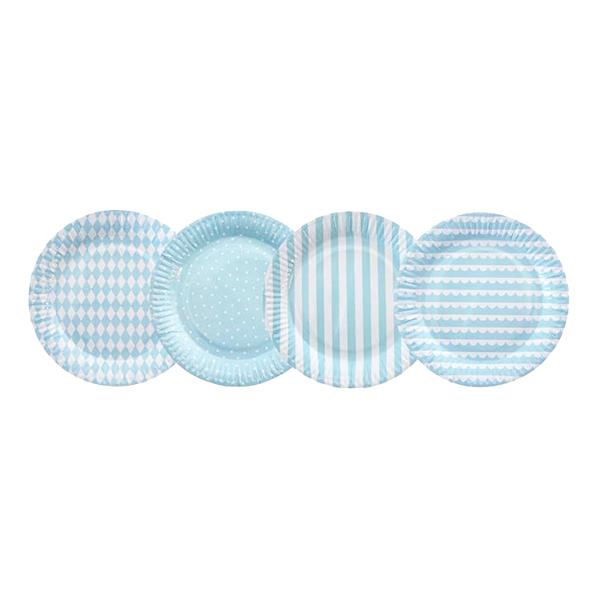 Papperstallrikar Kalas Ljusblå - 8-pack