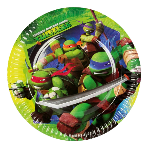 Ninja - Papperstallrikar Ninja Turtles - 8-pack