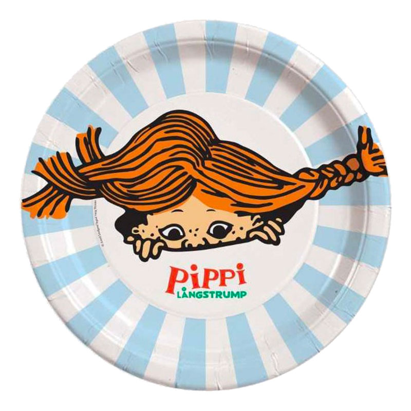 Papperstallrikar Pippi Långstrump - 8-pack