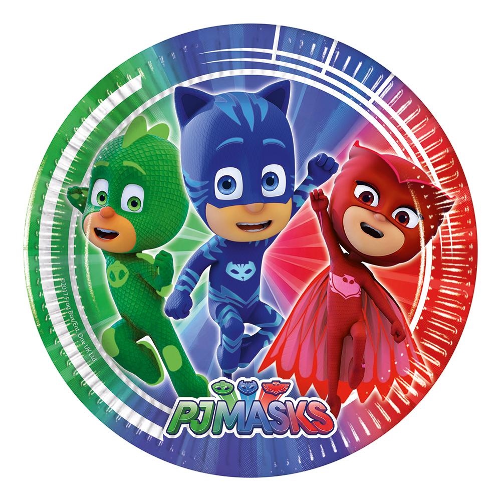 Papperstallrikar Pyjamas Hjältarna - 8-pack