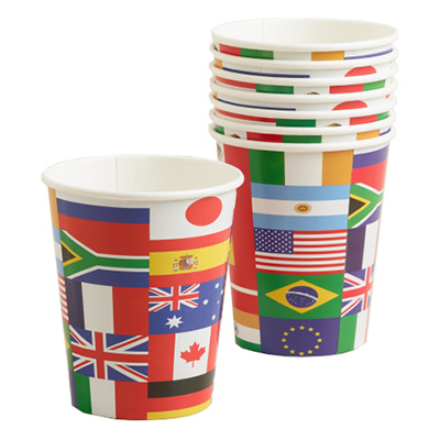 Pappersmuggar Internationella Flaggor - 8-Pack