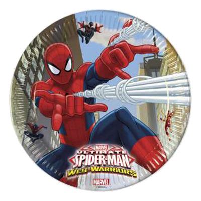 Papperstallrikar Ultimate Spiderman - 8-pack