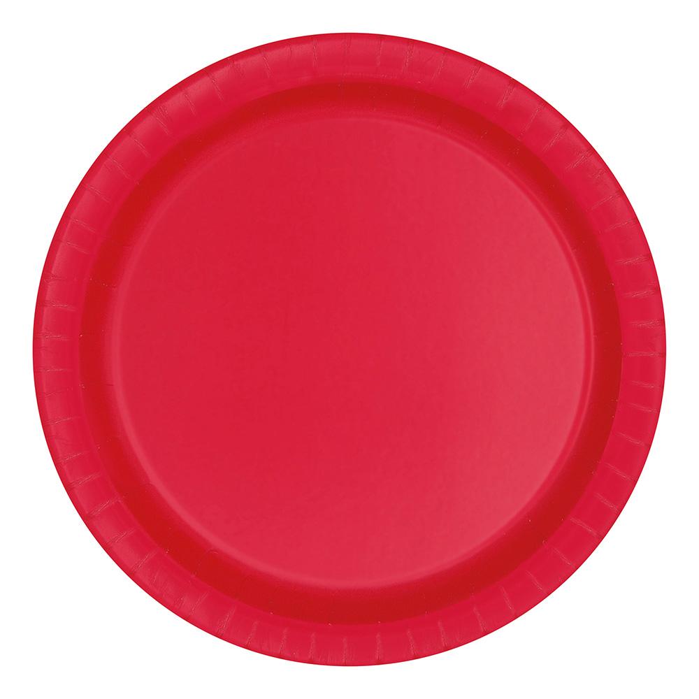 Papperstallrikar Röda - 16-pack