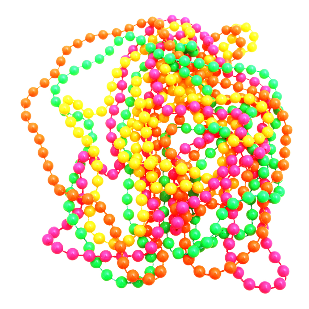 Pärlhalsband Neonfärgat