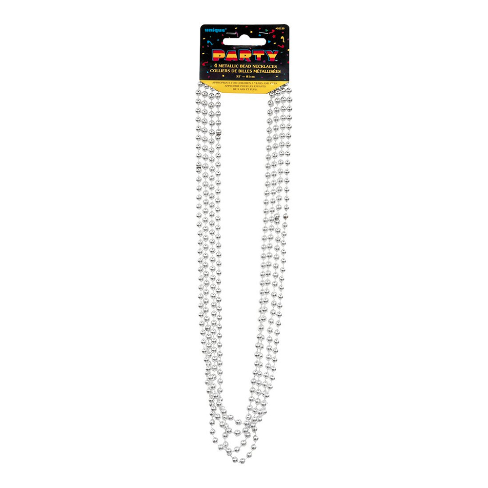 Partybeads Silver Metallic - 4-pack