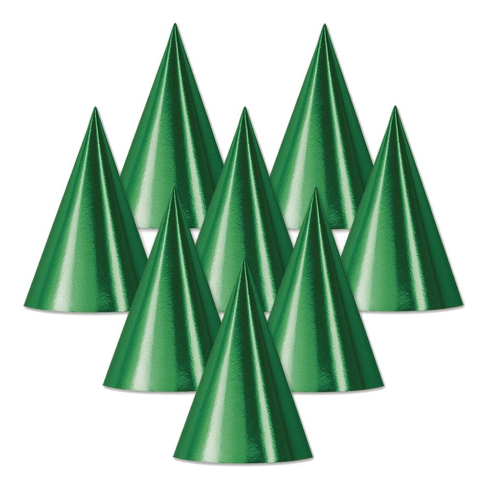 Partyhatt Grön Metallic - 1-pack
