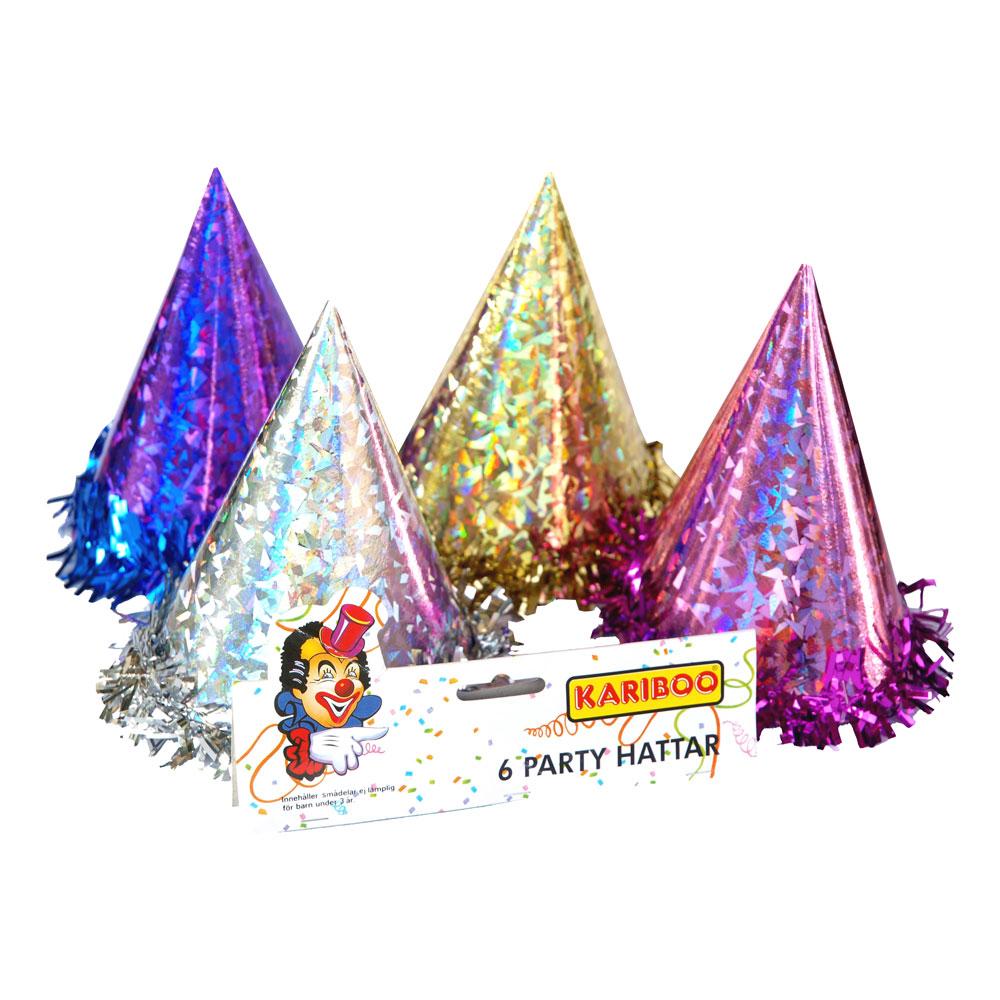 Partyhatt Hologram - Flerfärgad