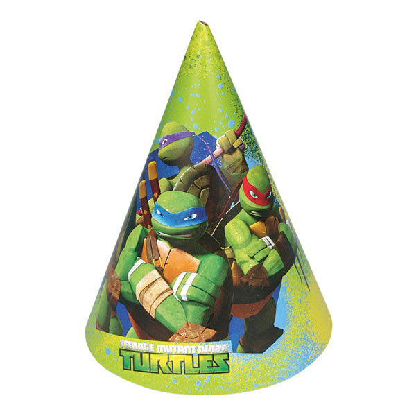 Partyhattar Ninja Turtles - 6-pack