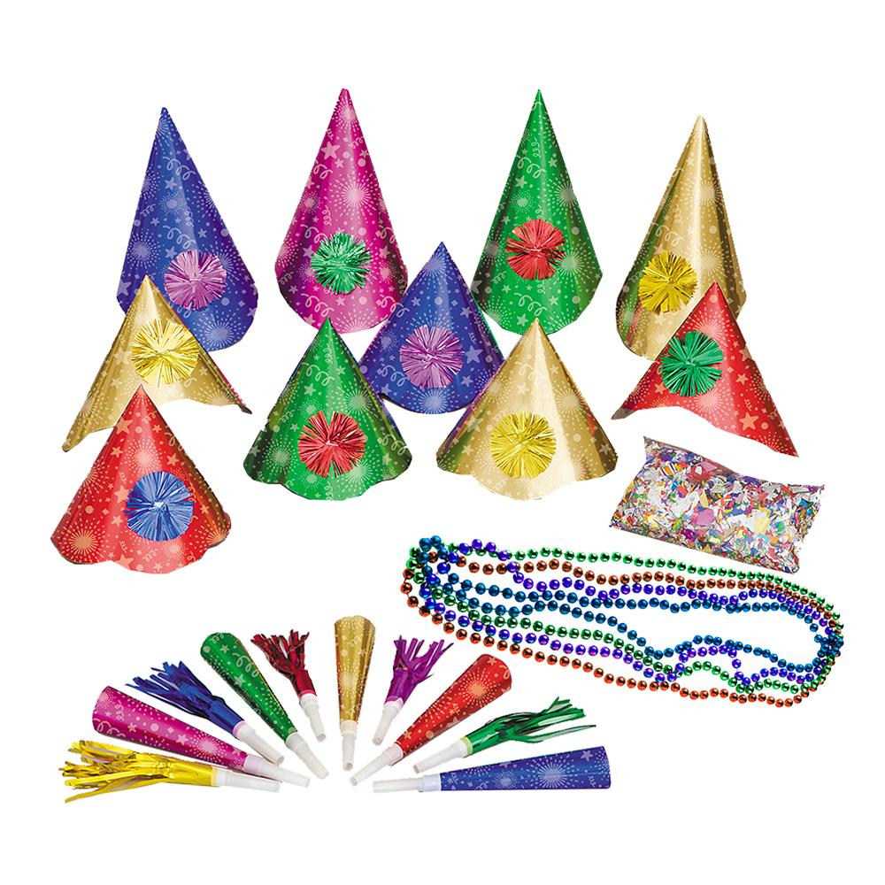 Partykit Nyår Color - För 10 personer