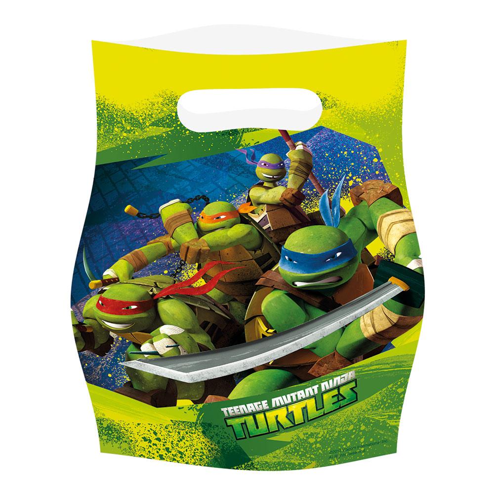 Partypåsar Ninja Turtles - 6-pack