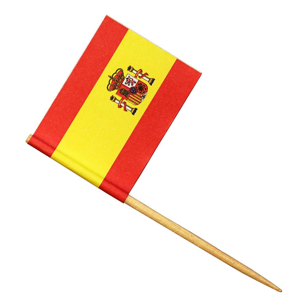 Partypicks Spanska Flaggan - 24-pack