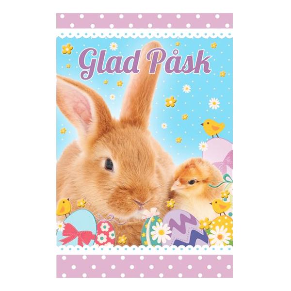 Påskkort Glad Påsk Kanin