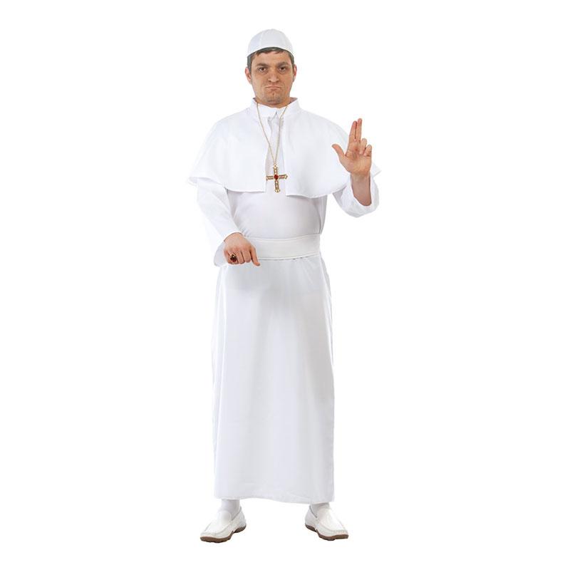Påve Vit Maskeraddräkt - One size