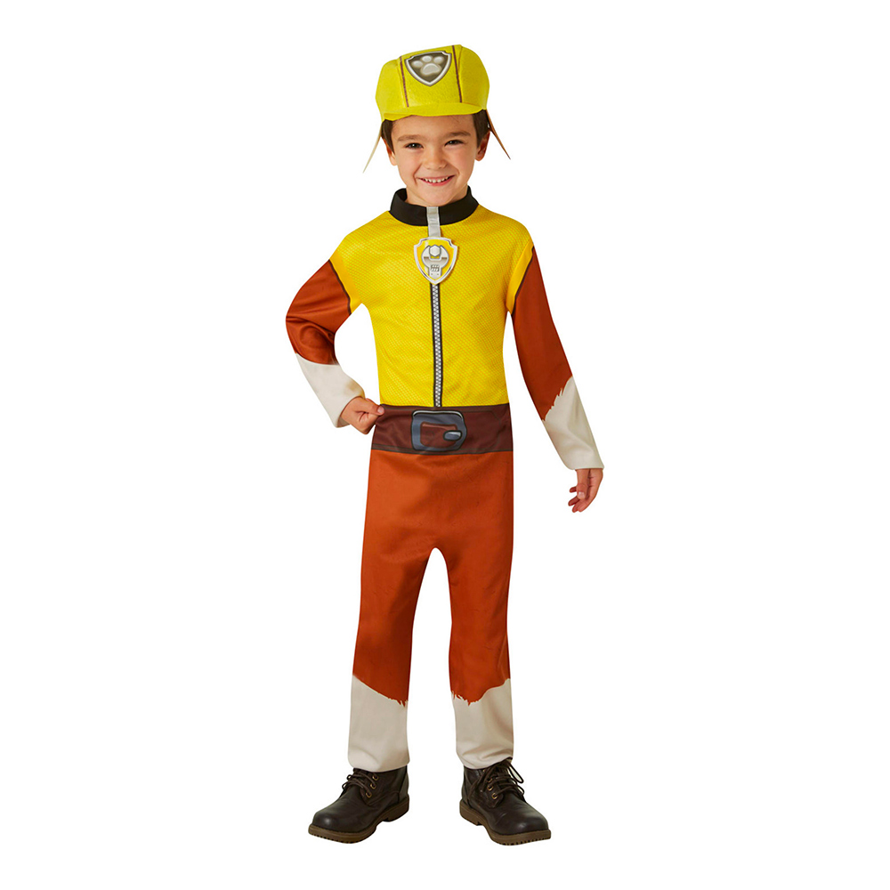 Paw Patrol Rubble Barn Maskeraddräkt - X-Small